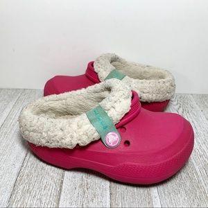 Crocs Pink Fleece Lined Clogs